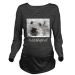 Keeshond Puppy (Draw Long Sleeve Maternity T-Shirt