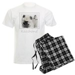 Keeshond Puppy (Drawing) Men's Light Pajamas
