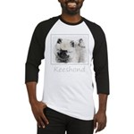 Keeshond Puppy (Drawing) Baseball Tee