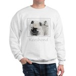 Keeshond Puppy (Drawing) Sweatshirt