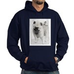 Keeshond Puppy (Drawing) Hoodie (dark)
