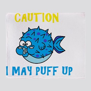 Don't Puff Up! Throw Blanket
