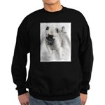 Keeshond Puppy (Drawing) Sweatshirt (dark)