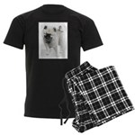 Keeshond Puppy (Drawing) Men's Dark Pajamas