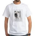 Keeshond Puppy (Drawing) White T-Shirt