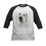 Keeshond Puppy (Drawing) Kids Baseball Tee