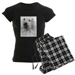 Keeshond Puppy (Drawing) Women's Dark Pajamas