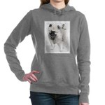 Keeshond Puppy (Drawing) Women's Hooded Sweatshirt