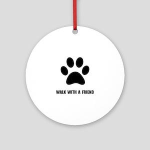 Walk Pet Round Ornament