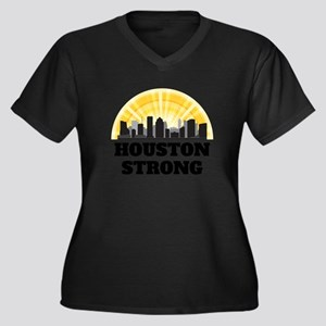 Houston Stro Women's Plus Size V-Neck Dark T-Shirt