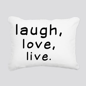 Laughtees Laugh Love Liv Rectangular Canvas Pillow
