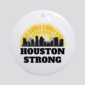 Houston Strong Round Ornament