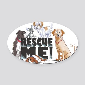 RescueMe Oval Car Magnet
