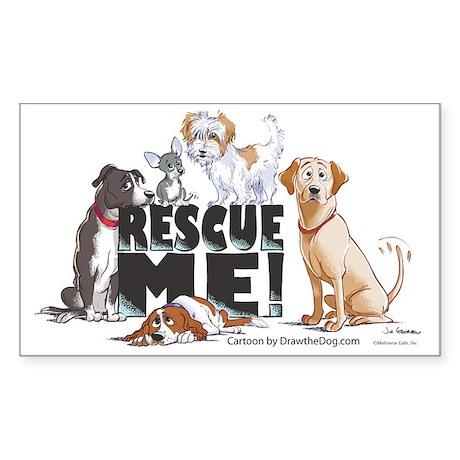 RescueMe Sticker (Rectangle)