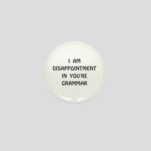 Disappointment Grammar Mini Button