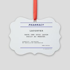 Laughtees Laughter Prescription L Picture Ornament