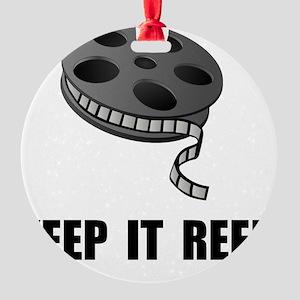 Keep Movie Reel Round Ornament