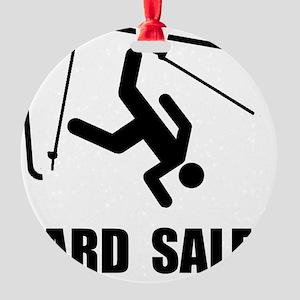 Ski Yard Sale Round Ornament
