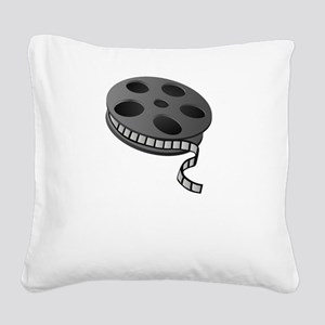 Keep Movie Reel Square Canvas Pillow