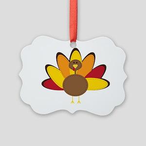 Turkey Time Picture Ornament