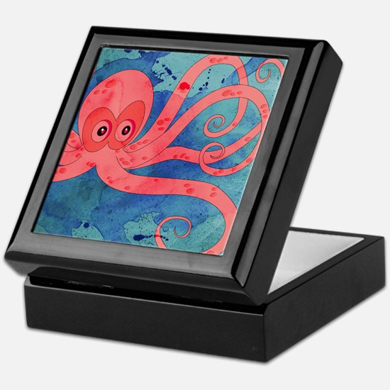Pink Octopus Keepsake Box