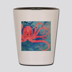 Pink Octopus Shot Glass