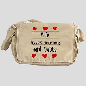 Allie Loves Mommy and Daddy Messenger Bag
