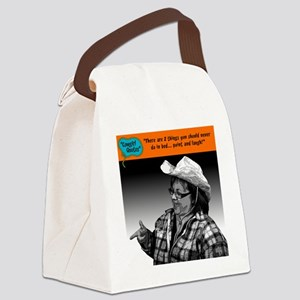 There are 2 things you should nev Canvas Lunch Bag