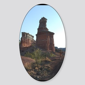 Lighthouse Peak Palo Duro Canyon Te Sticker (Oval)
