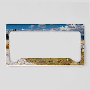 Yellowstones Mammoth Terrace License Plate Holder