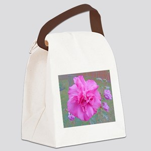 Beautiful Blooming Pink Fuschia Rose Canvas Lunch