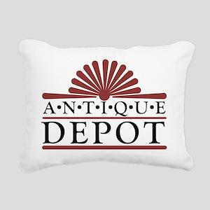 Antique Depot Logo Rectangular Canvas Pillow