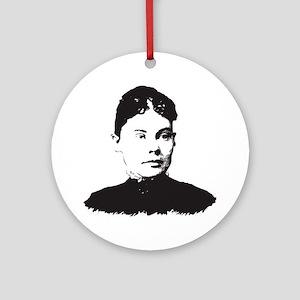 Lizzie Borden Round Ornament