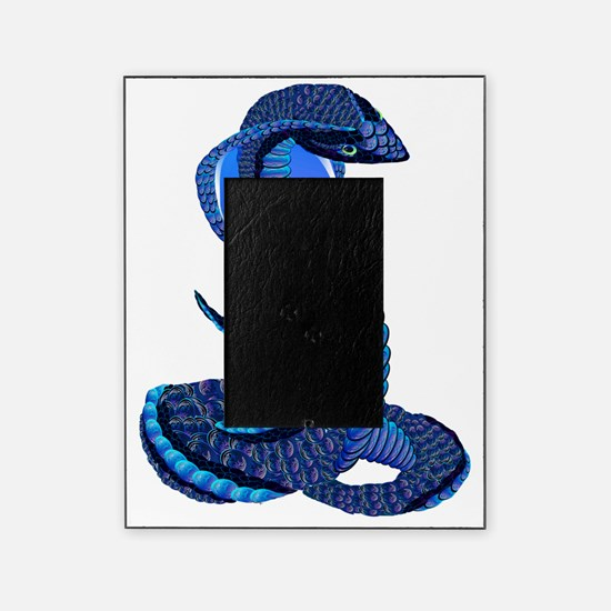 A Big Blue Snake Picture Frame