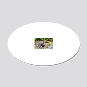 Black cap template  4 20x12 Oval Wall Decal