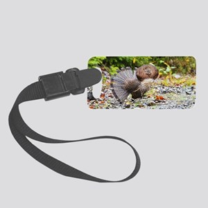 Black cap template  4 Small Luggage Tag