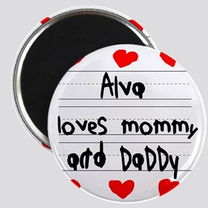 Alva Loves Mommy and Daddy Magnet