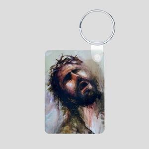 Christ passion Aluminum Photo Keychain