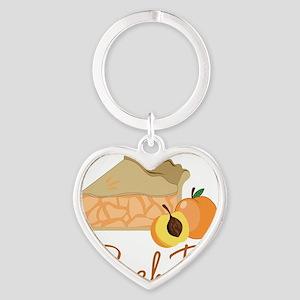 Peach Pie Heart Keychain