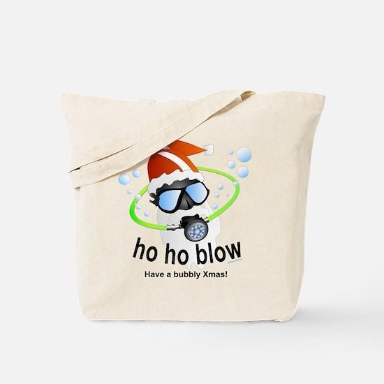 Merry Christmas Scuba santa Tote Bag