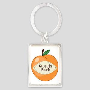 Georgia Peach Portrait Keychain