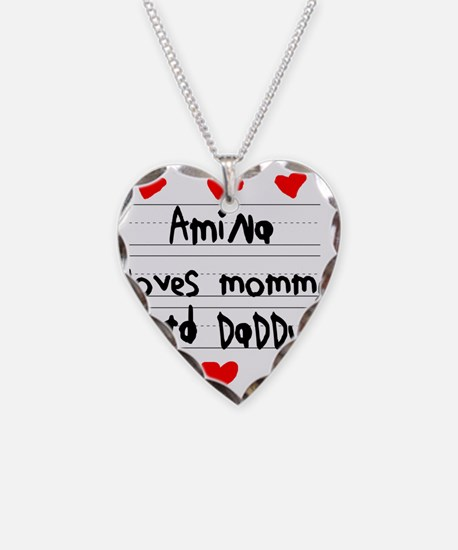 Amina Loves Mommy and Daddy Necklace