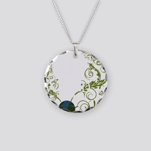 bethechange_earth_dark Necklace Circle Charm