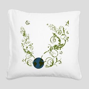 bethechange_earth_dark Square Canvas Pillow