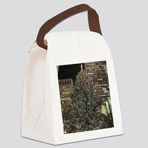 Christmas Tree - Rockefeller Cent Canvas Lunch Bag