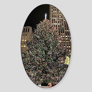 Christmas Tree - Rockefeller Center Sticker (Oval)