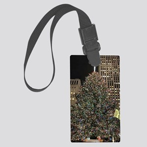 Christmas Tree - Rockefeller Cen Large Luggage Tag