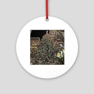Christmas Tree - Rockefeller Center Round Ornament
