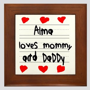 Alma Loves Mommy and Daddy Framed Tile