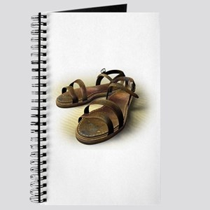 Sandals on sand Journal